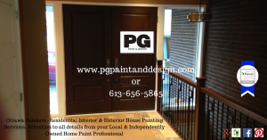 Ottawa Interior and Exterior House Painters - PG PAINT & DESIGN for all your Residential Painting, Go with Trust, Maturity and Reliability Professional Painter