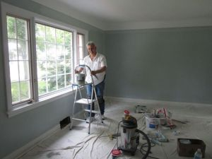 painting living room, owner of PG PAINT & DESIGN