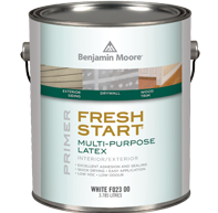 can of fresh start multi purpose latex paint used by PG PAINT & DESIGN - Ottawa House Painters