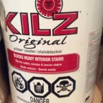 Kilz in a can is perfect primer for stained ceiling